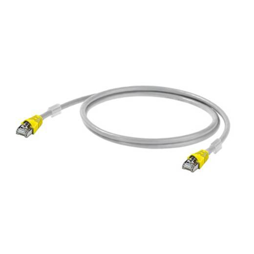 RJ45 (gekreuzt) Netzwerk Anschlusskabel CAT 6a S/FTP 20 m Grau UL-zertifiziert, mit Rastnasenschutz, Flammwidrig Weidmül