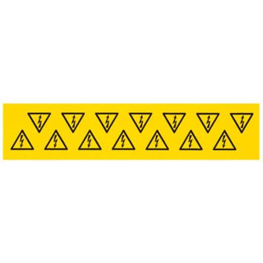Kabelmarkier-Etikett MARKO-C.100X100X100 B/DR 1700550001 Gelb Weidmüller 10 St.