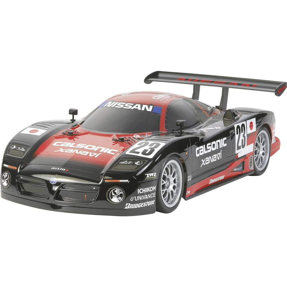 auto rc lectrique mod le de course tamiya nissan r390 gt1 1 10 4 roues motrices kit monter. Black Bedroom Furniture Sets. Home Design Ideas
