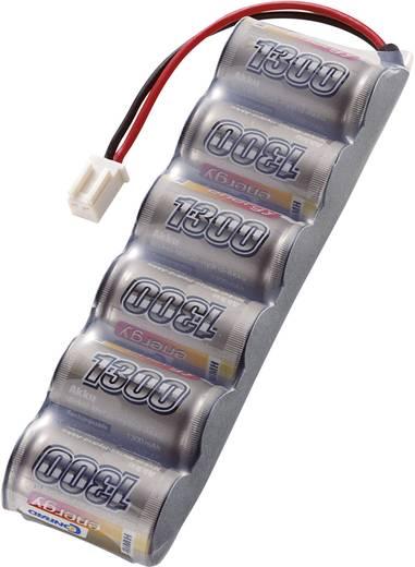 Modellbau-Akkupack (NiMh) 7.2 V 1300 mAh Zellen-Zahl: 6 Conrad energy Side by Side Micro-Car-Buchse