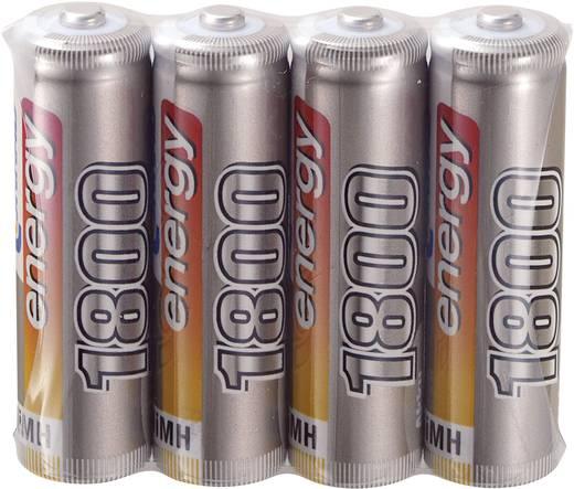 Modellbau-Akku-Einzelzelle NiMH Mignon (AA) 1.2 V 1800 mAh Conrad energy 4er Set