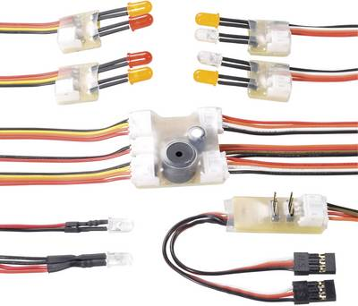 Modelcraft Multifunction lighting system White, Red, Yellow 5 V