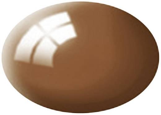 Revell 36180 Aqua-Farbe Lehm-Braun (glänzend) Farbcode: 80 RAL-Farbcode: 8003 Dose 18 ml