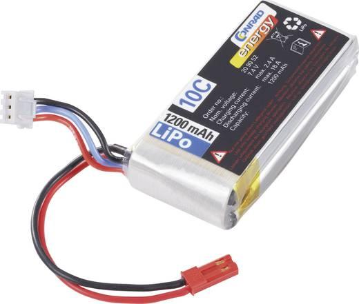 Modellbau-Akkupack (LiPo) 7.4 V 1200 mAh Zellen-Zahl: 2 10 C Conrad energy BEC