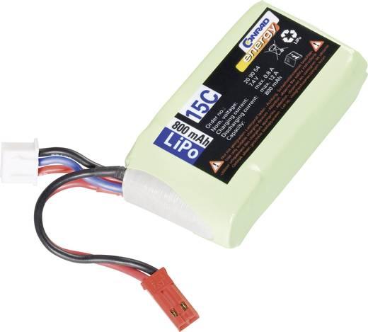Modellbau-Akkupack (LiPo) 7.4 V 800 mAh 10 C Conrad energy BEC