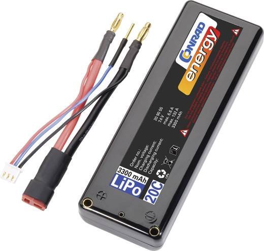 Modellbau-Akkupack (LiPo) 7.4 V 3300 mAh Zellen-Zahl: 2 20 C Conrad energy Box Hardcase T-Buchse