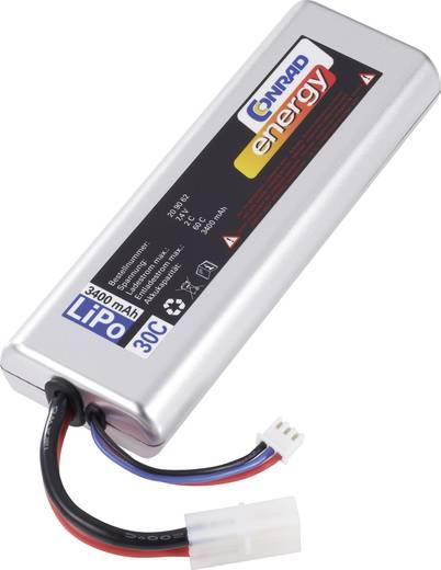 Modellbau-Akkupack (LiPo) 7.4 V 3400 mAh Zellen-Zahl: 2 30 C Conrad energy Sub-C Hardcase Tamiya-Stecker