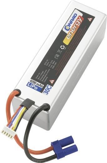 Modellbau-Akkupack (LiPo) 14.8 V 4200 mAh 30 C Conrad energy Box Hardcase EC5