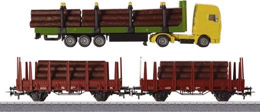 H0 2er-Wagen-Set Forstwirtschaft