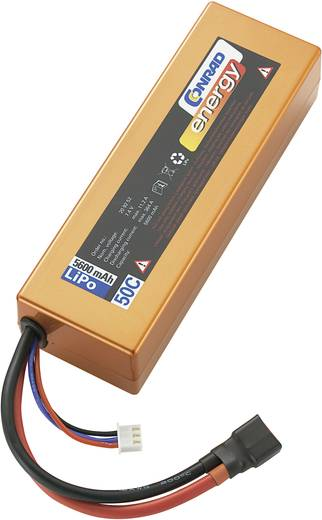 Modellbau-Akkupack (LiPo) 7.4 V 5600 mAh Zellen-Zahl: 2 50 C Conrad energy Box Hardcase T-Buchse