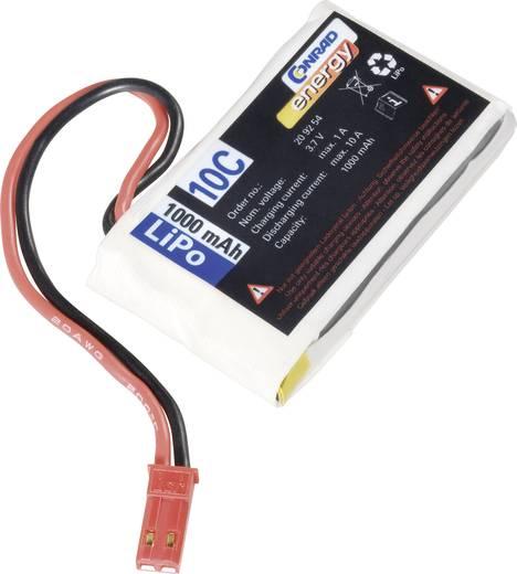 Modellbau-Akkupack (LiPo) 3.7 V 1000 mAh 10 C Conrad energy BEC