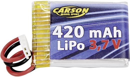 Modellbau-Akkupack (LiPo) 3.7 V 420 mAh Zellen-Zahl: 1 Carson Modellsport Stick Flachstecker