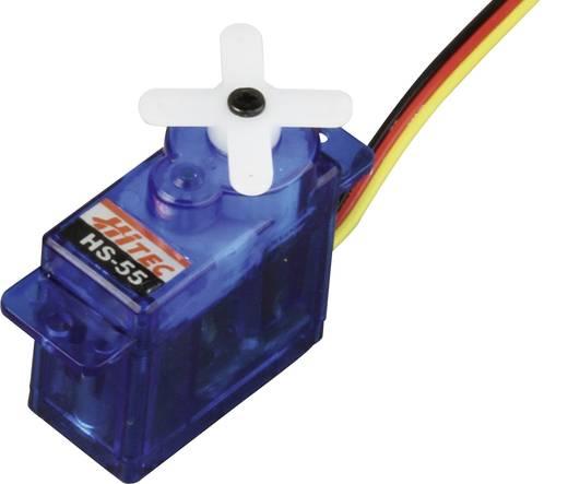 Hitec Mini-Servo HS-55 Analog-Servo Getriebe-Material: Kunststoff Stecksystem: JR