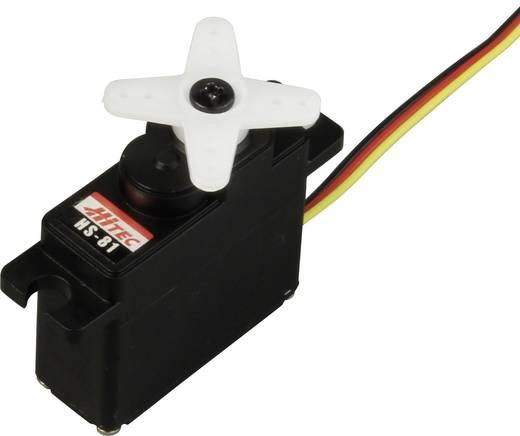 Hitec Midi-Servo HS-81 Analog-Servo Getriebe-Material: Kunststoff Stecksystem: JR