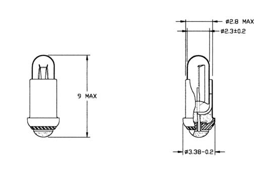 Spezialglühlampe Klar MS2.8 10 V 45 mA