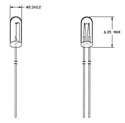 Spezialglühlampe Klar T3/4 WT 14 V 50 mA 21614500