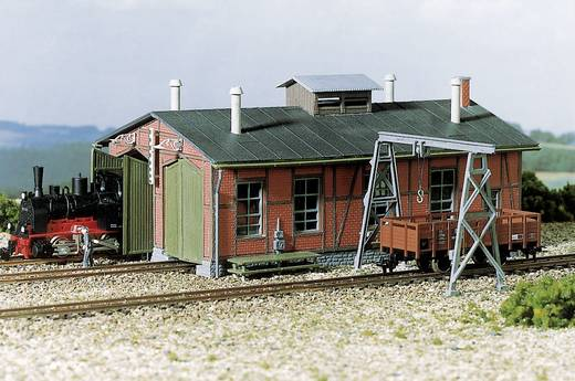 Auhagen 11 355 H0 Lokschuppen,zweiständig mit Bockkran