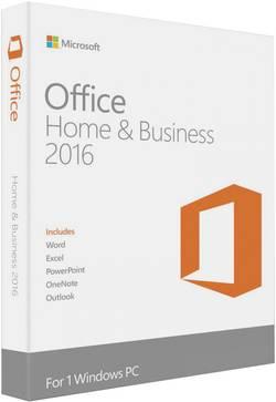 Logiciel de bureautique Microsoft Office Home and Business 2016 version complète, 1 licence