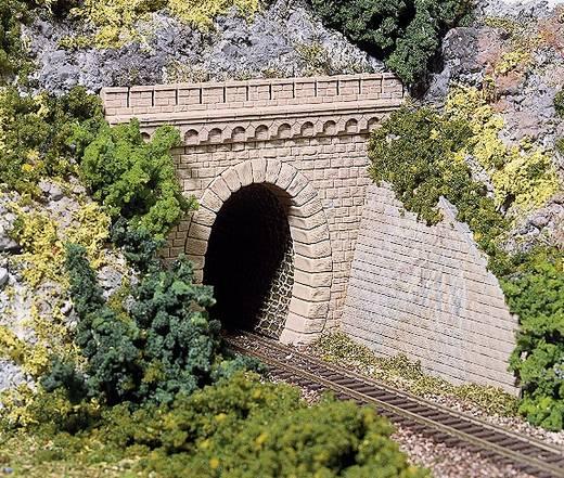 H0 Tunnel-Portal H0 2 TUNNELPORTALE EINGLEISIG MELIERT 1gleisig Kunststoffmodell Auhagen 41 586
