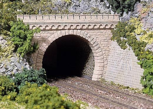 H0 Tunnel-Portal H0 2 TUNNELPORTALE ZWEIGLEISIG MELIERT 2gleisig Kunststoffmodell Auhagen 41 587