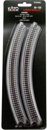 N Kato Unitrack 7078103 Gebogenes Gleis 45 ° 315 mm