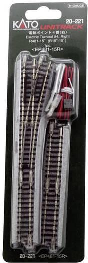 N Kato Unitrack 7078204 Weiche, elektrisch, rechts 124 mm