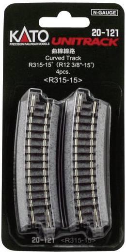 N Kato Unitrack 7078104 Gebogenes Gleis 15 ° 315 mm