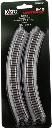 N Kato Unitrack 7078100 Gebogenes Gleis 45 ° 249 mm
