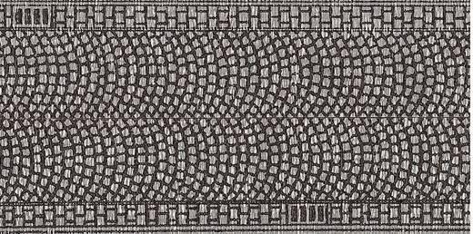 Z Kopfsteinpflaster (L x B) 1 m x 25 mm NOCH 44070