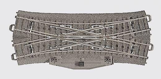 H0 Märklin C-Gleis (mit Bettung) 24624 Kreuzungsweiche, doppelt 188.3 mm