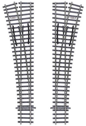 TT Tillig Gleis (ohne Bettung) 83331 Weiche, rechts 166 mm 15 ° 631 mm