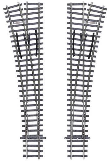 TT Tillig Gleis (ohne Bettung) 83331 Weiche, rechts 166 mm