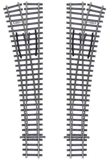 TT Tillig Gleis (ohne Bettung) 83332 Weiche, links 166 mm