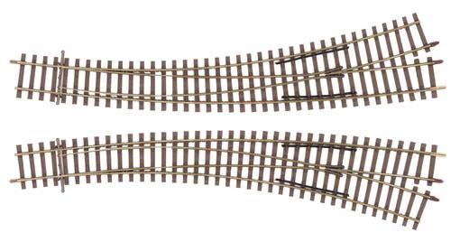 H0 Tillig Elite Gleis 85373 Bogenweiche, rechts 17 °, 29 ° 934 mm, 543 mm