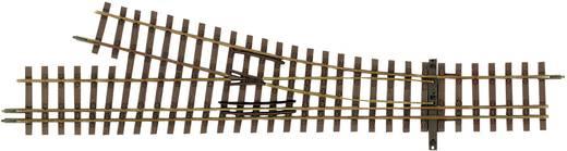 H0m Tillig Schmalspur-Gleis 85194 Dreischienenweiche, links 128 mm
