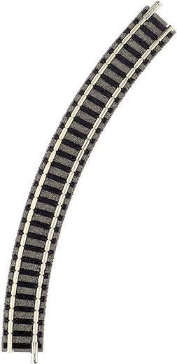 N Fleischmann piccolo (mit Bettung) 9120 Gebogenes Gleis 45 ° 192 mm