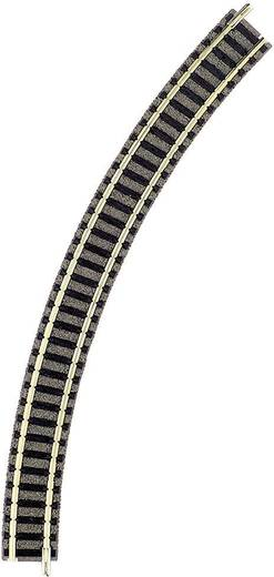 N Fleischmann piccolo (mit Bettung) 9125 Gebogenes Gleis 45 ° 225.6 mm