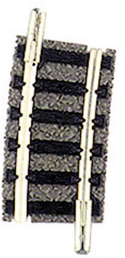 N Fleischmann piccolo (mit Bettung) 9128 Gebogenes Gleis 7.5 ° 225.6 mm