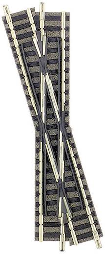 N Fleischmann piccolo (mit Bettung) 9162 Kreuzung, links 111 mm