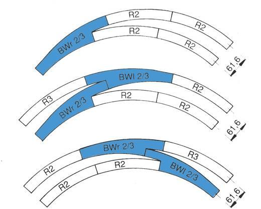 H0 RocoLine (ohne Bettung) 42464 Bogenweiche, links