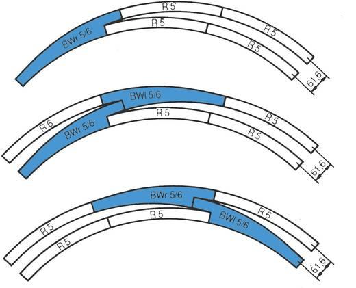 H0 RocoLine (ohne Bettung) 42471 Bogenweiche, rechts