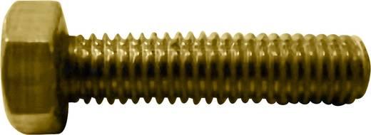 TOOLCRAFT 216291 Sechskantschrauben M2 10 mm Außensechskant DIN 933 Messing 10 St.