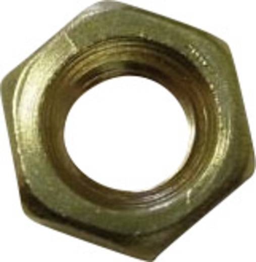 Sechskantmuttern M1.2 DIN 934 Messing 20 St. TOOLCRAFT 216348