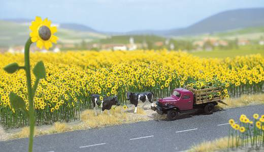 Blumen Sonnenblumen Busch 6003 Gelb