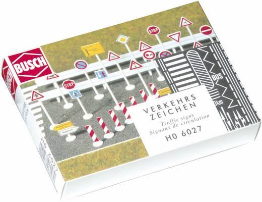 H0 Set Verkehrszeichen Busch 6027 Bausatz