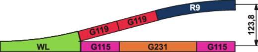 H0 Piko A-Gleis 55200 Gerades Gleis 239.07 mm