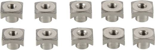 Modelcraft Aluminium Zackenmutter M2 10er Set Silber
