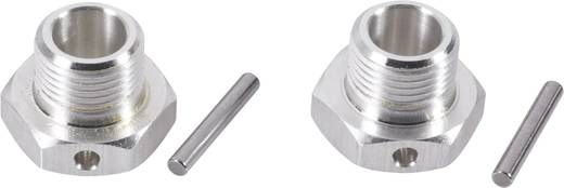 1:8 Alu-Felgenmitnehmer 17 mm 6-Kant Reely Silber 1 Paar