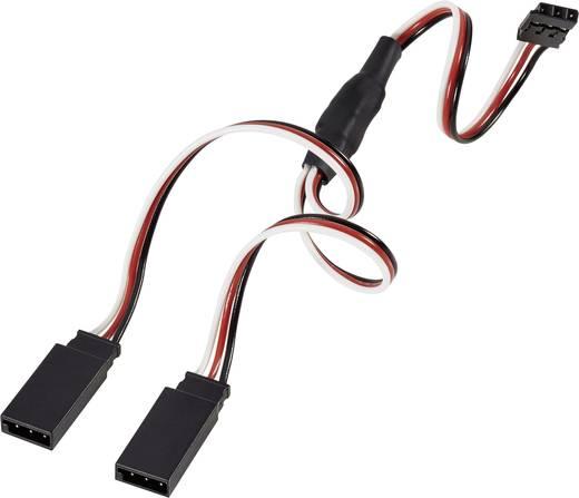 Servo Y-Kabel [2x Futaba-Stecker - 1x Futaba-Buchse] 300 mm 0.14 mm² Modelcraft
