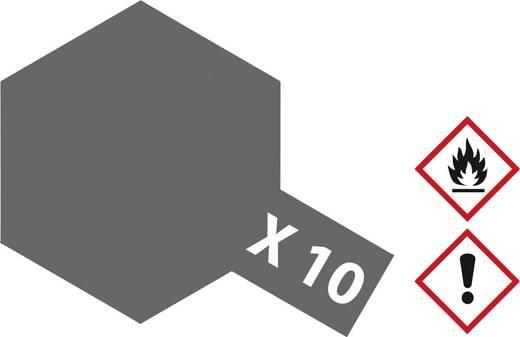 Tamiya 81010 Acrylfarbe Gun Metall (glänzend) Farbcode: X-10 Glasbehälter 23 ml